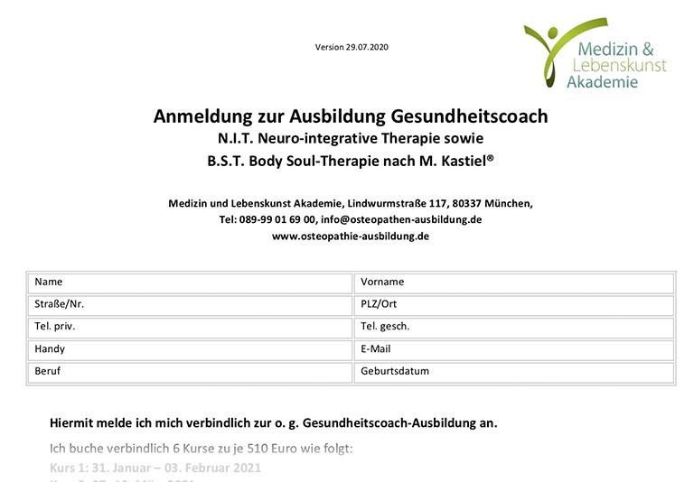Anmeldeformular Gesundheitscoach.29.07.2020